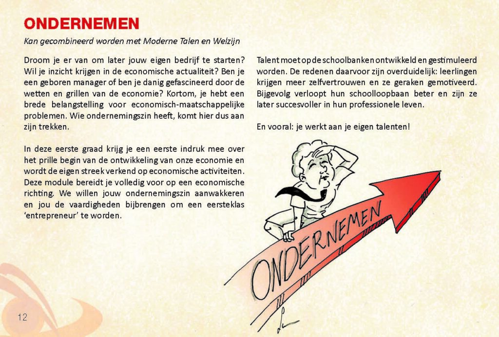 Brochure Sint-Catharinacollege ondernemen