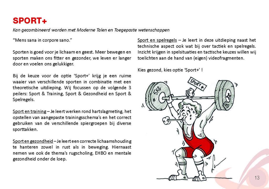 Brochure Sint-Catharinacollege sport+