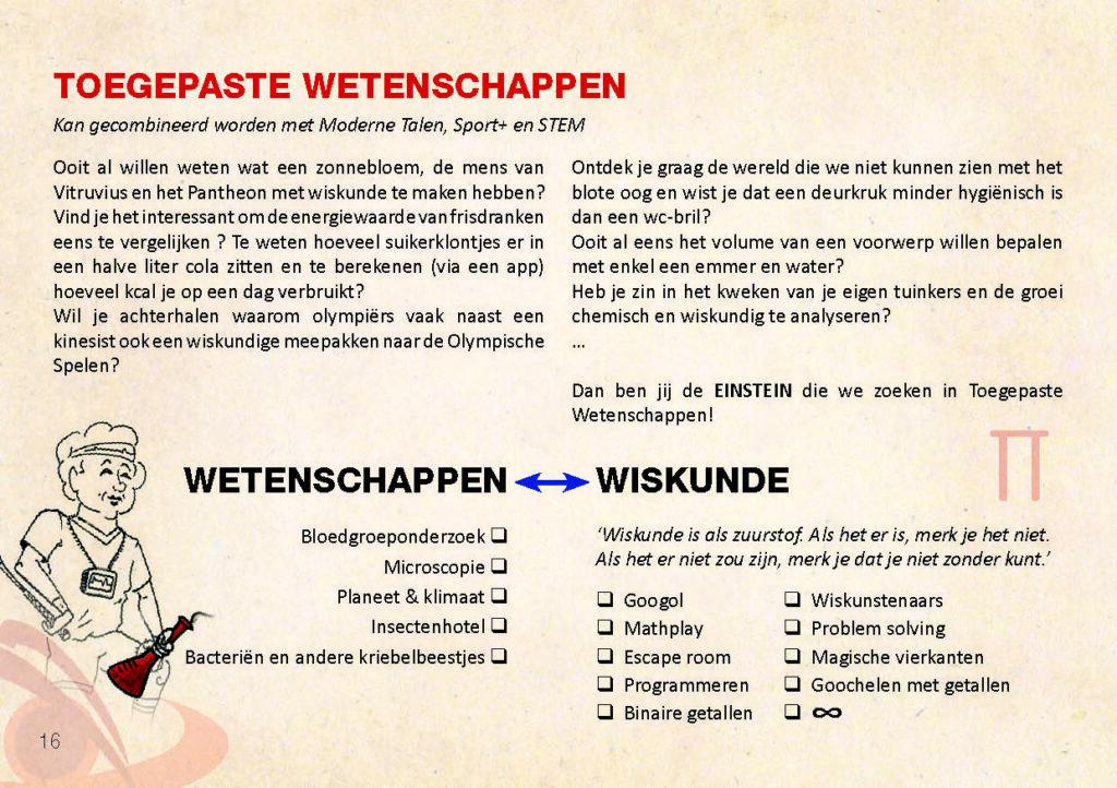 Brochure Sint-Catharinacollege toegepaste wetenschappen